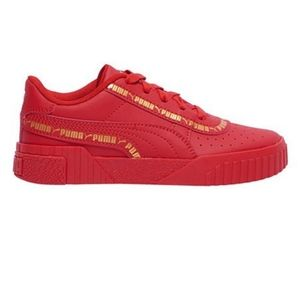 PUMA Cali Taping Retro 80s Red and Gold Sneakers